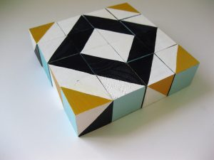 Freelance Friday: Hand Painted Geo Blocks